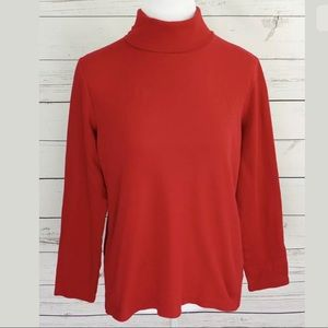 Croft & Barrow Top Red Turtleneck Long Sleeve